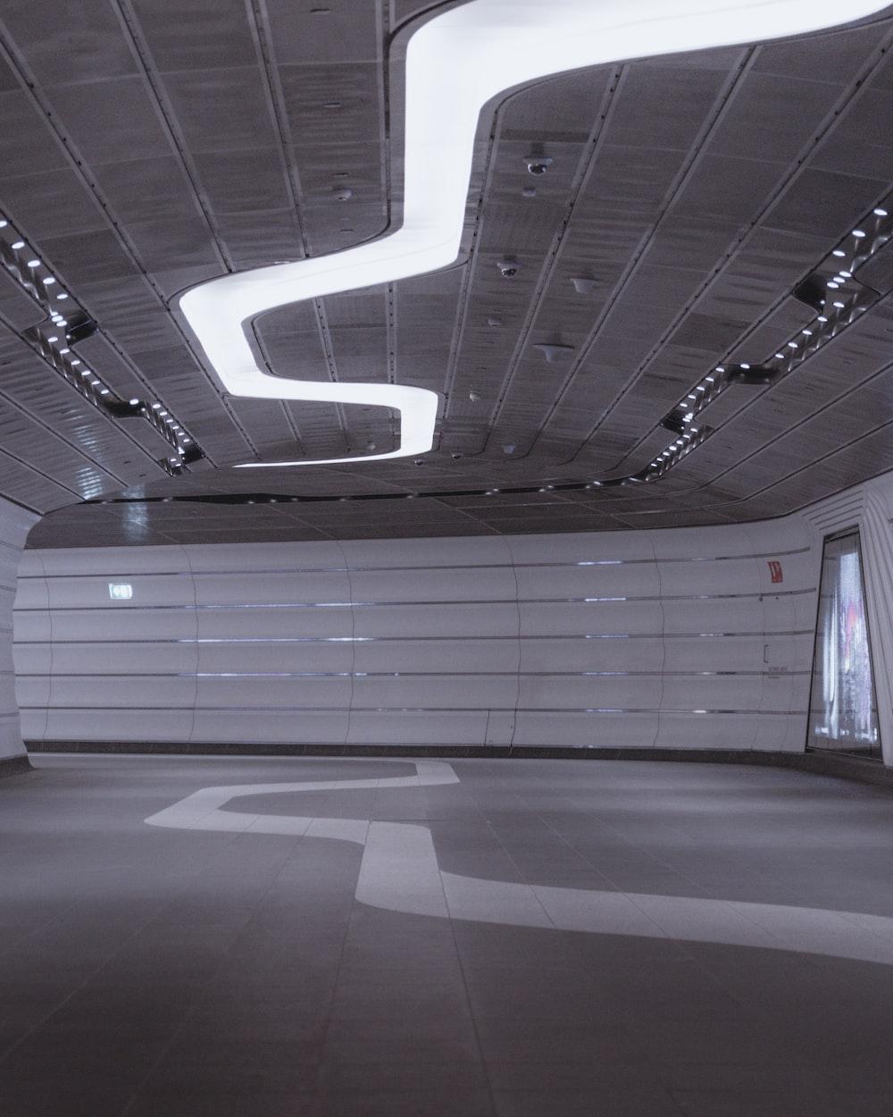 turned-on false ceiling light