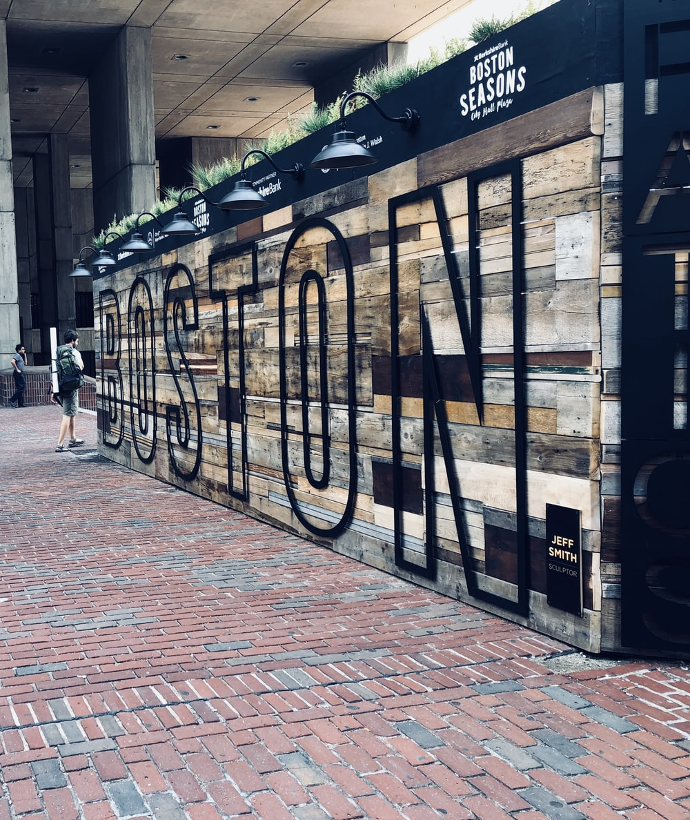 Boston wooden sign