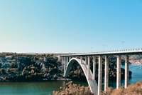 long bridge under blue sky