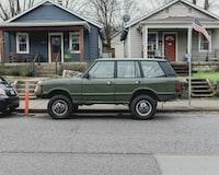 gray car parked o road