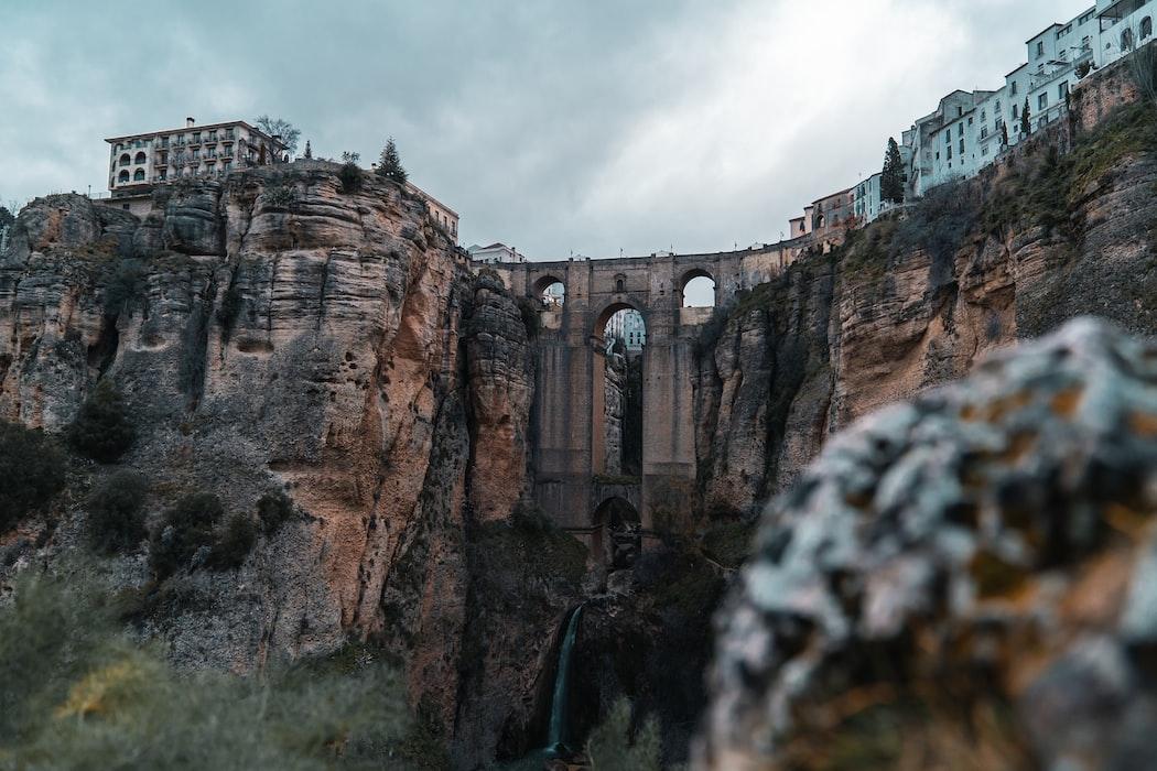 a shot of the iconic bridge of Ronda