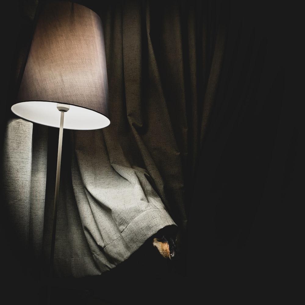 turned on lamp