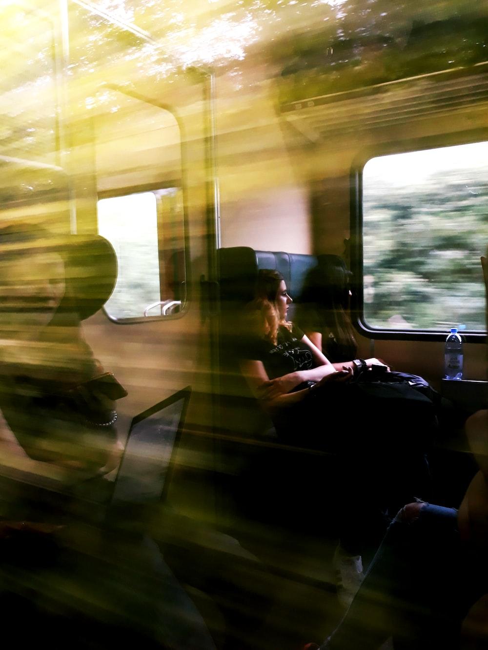 two women inside train