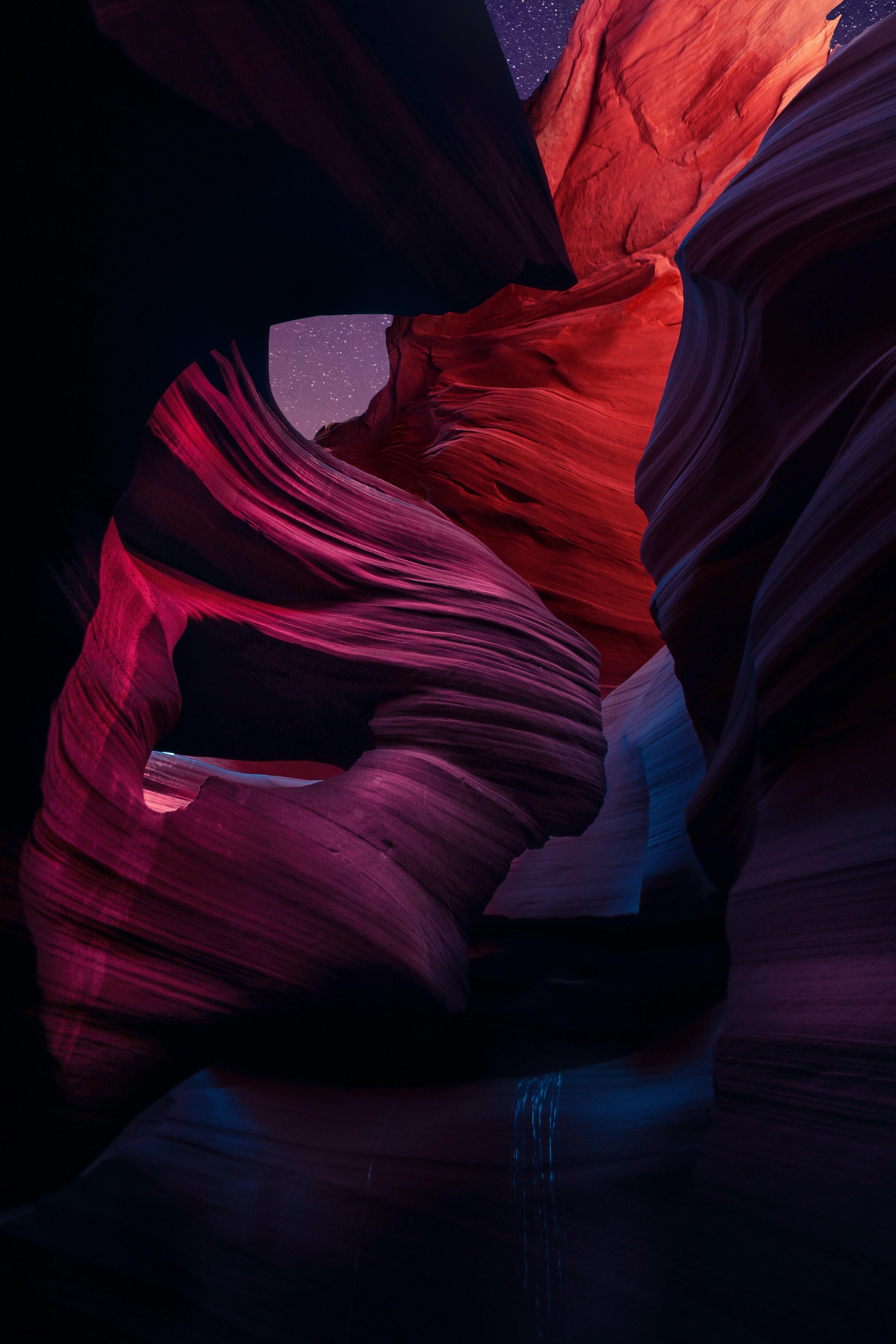 brown rock formation digital wallpaper