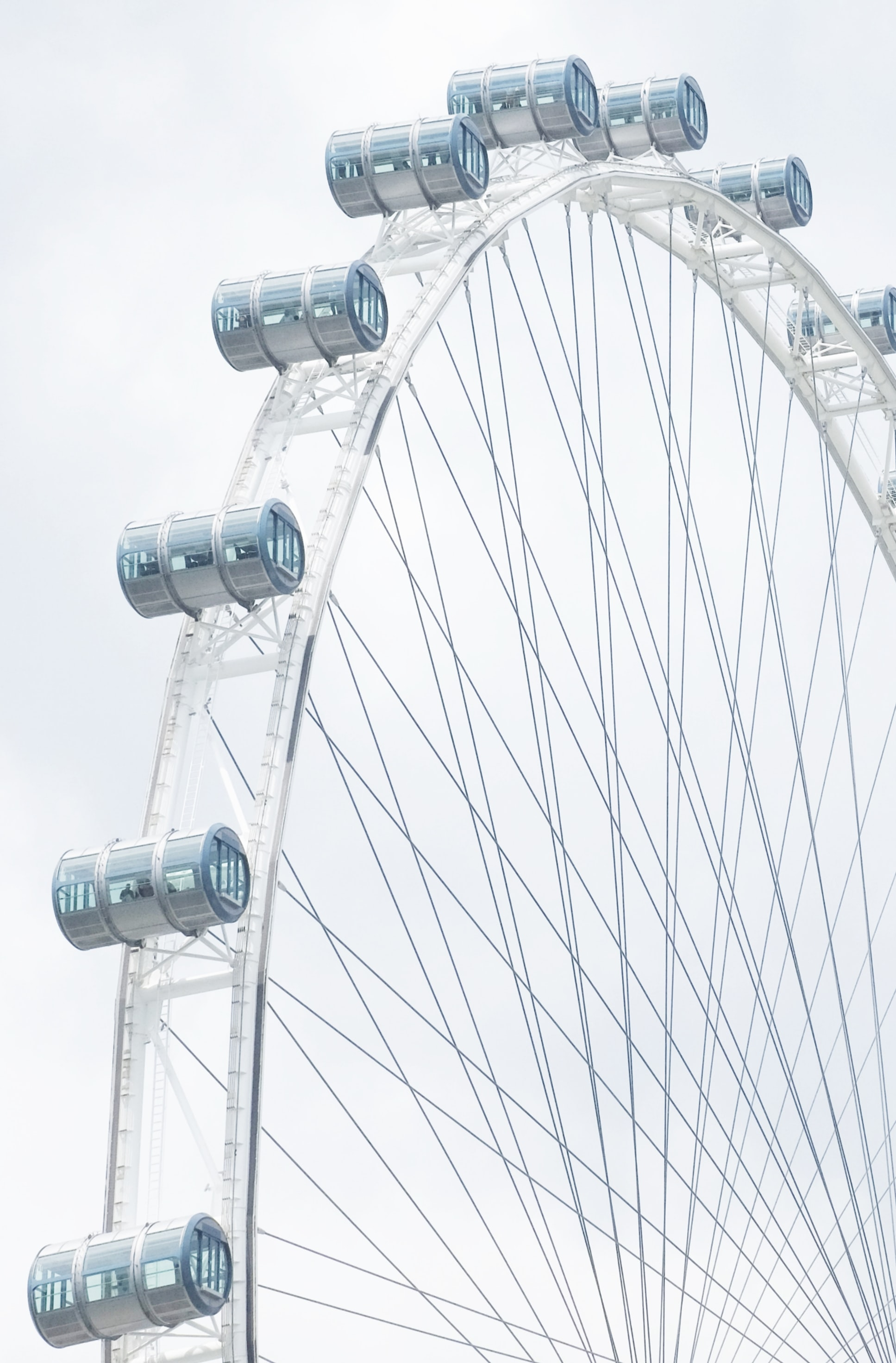 close-up photography of London Eye