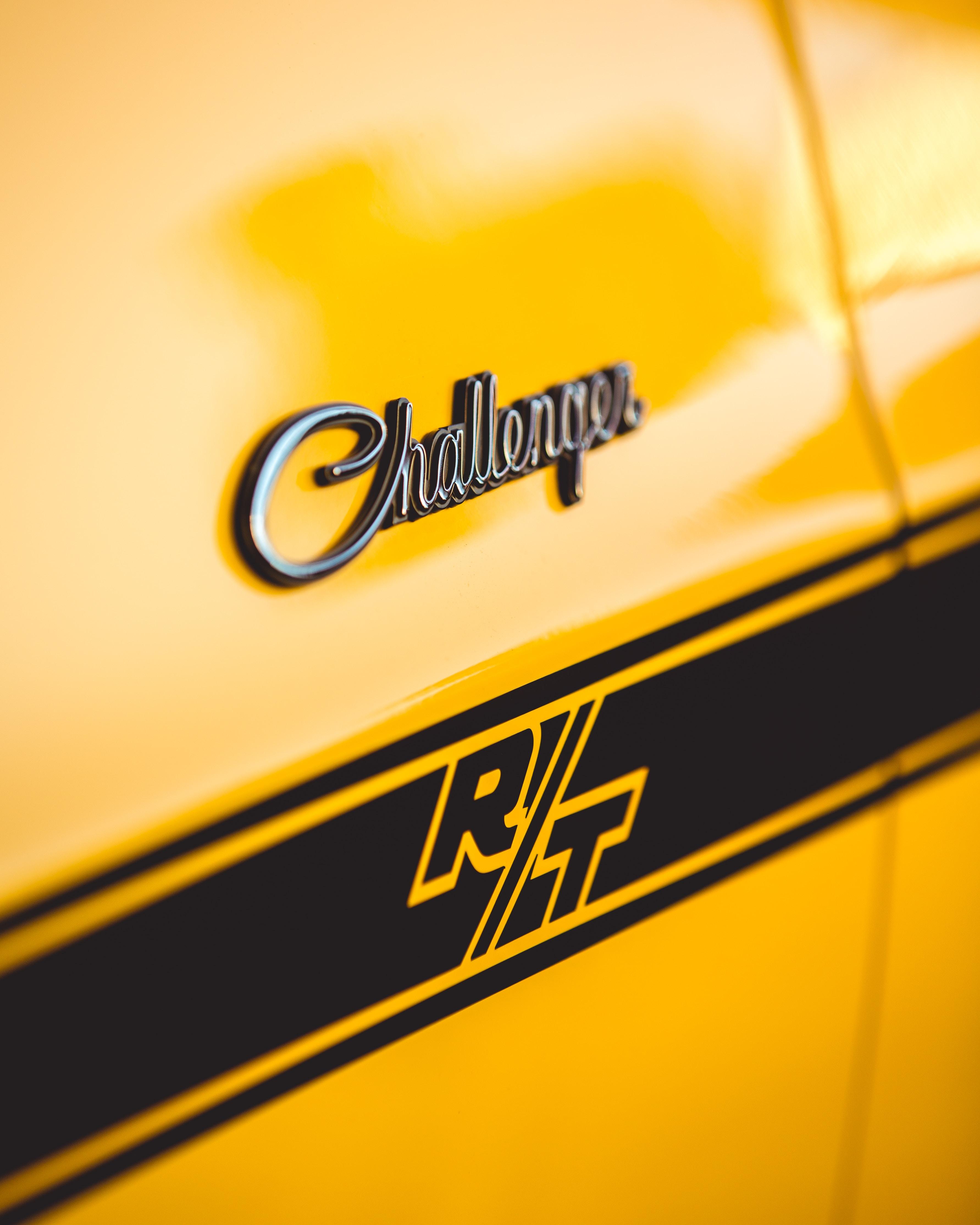 yellow Dodge Challenger