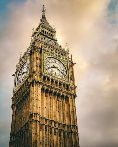 tower clock displaying 8:20