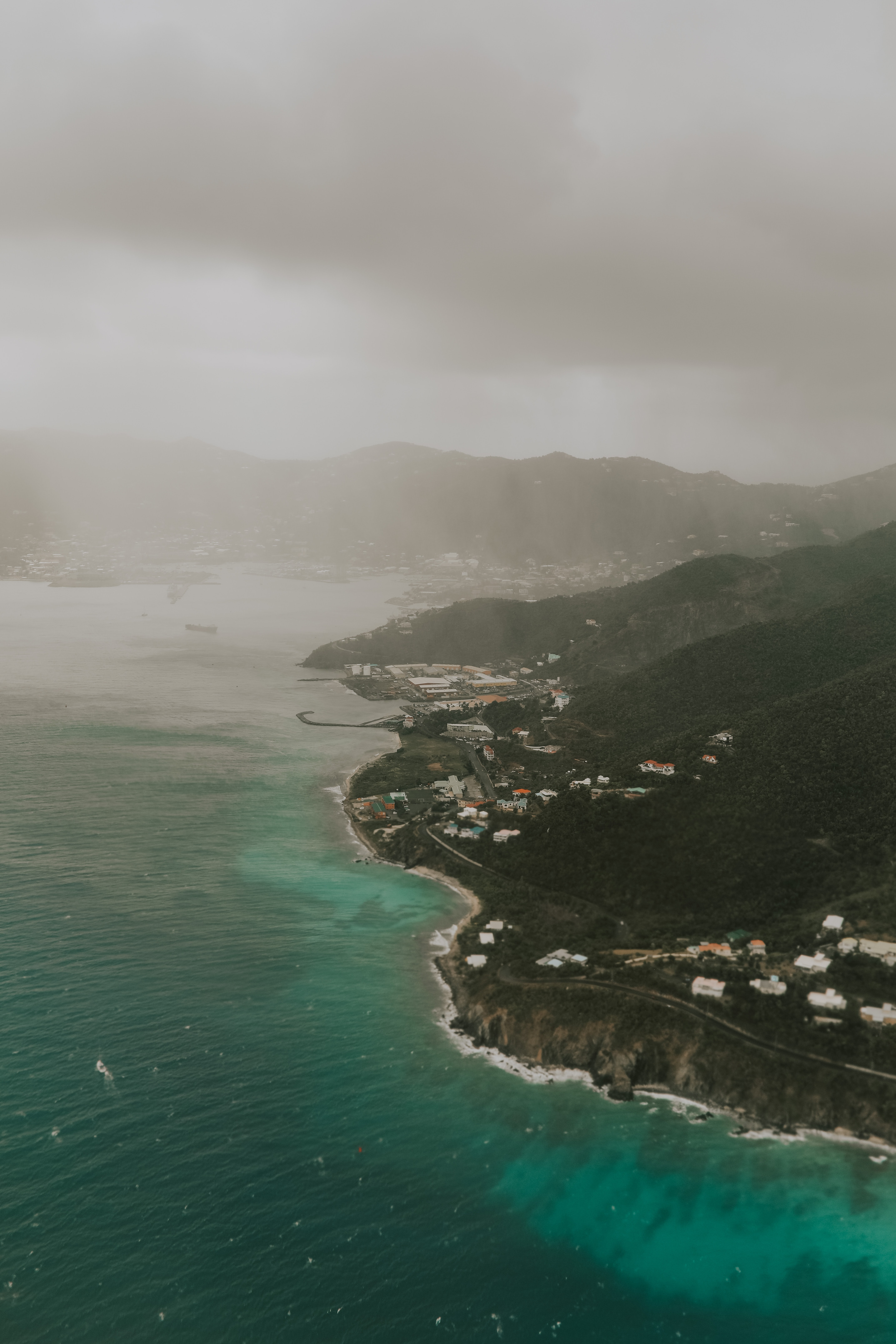 body of water during cloudy weather