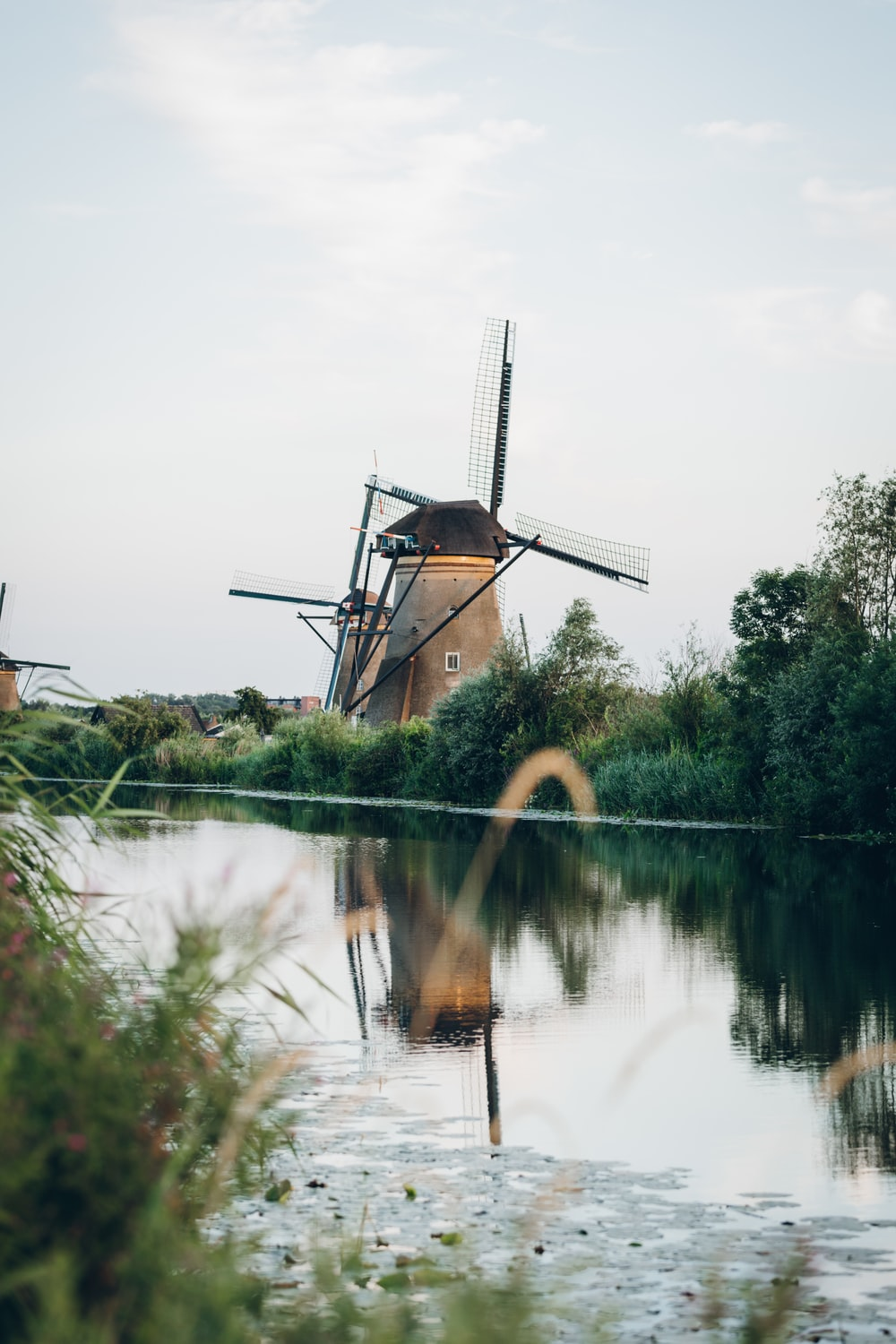 selective focus photography of windmill