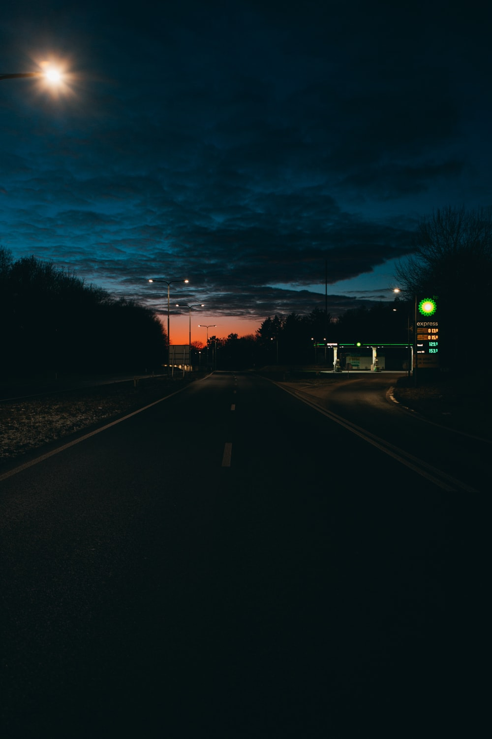 highway during nighttime