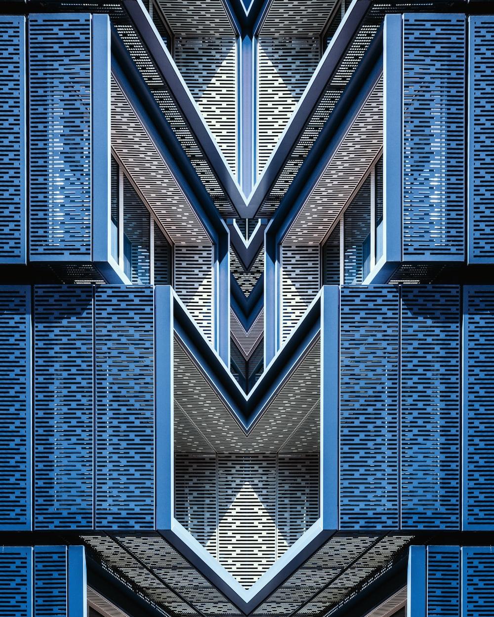 blue architectural design