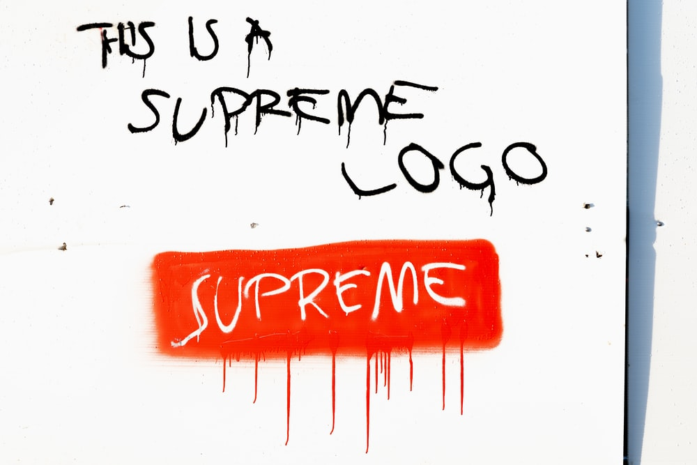 this is a Supreme logo text