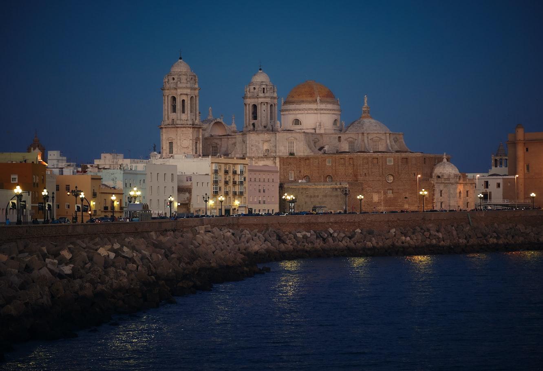twilight in Cadiz, Spain