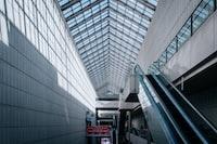 escalator near wall