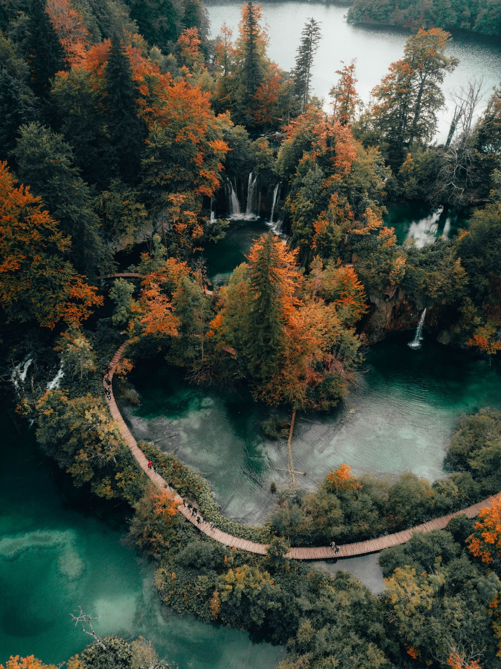 green-colored lakes