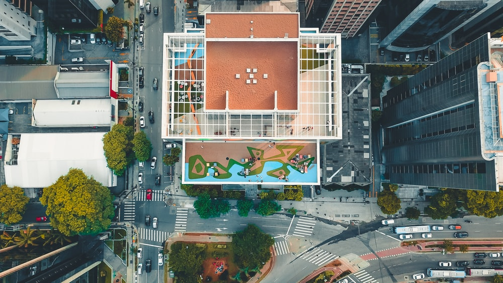 high angle photography of high rise buildings