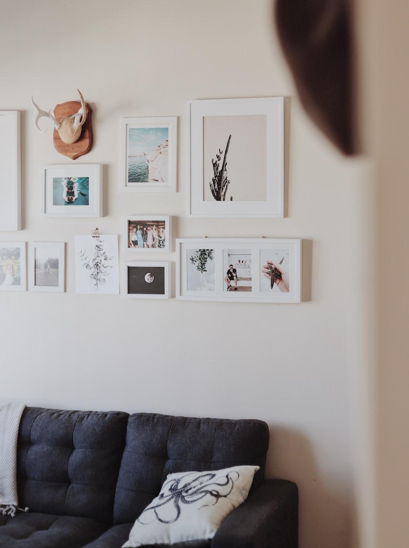 white wall photo frame