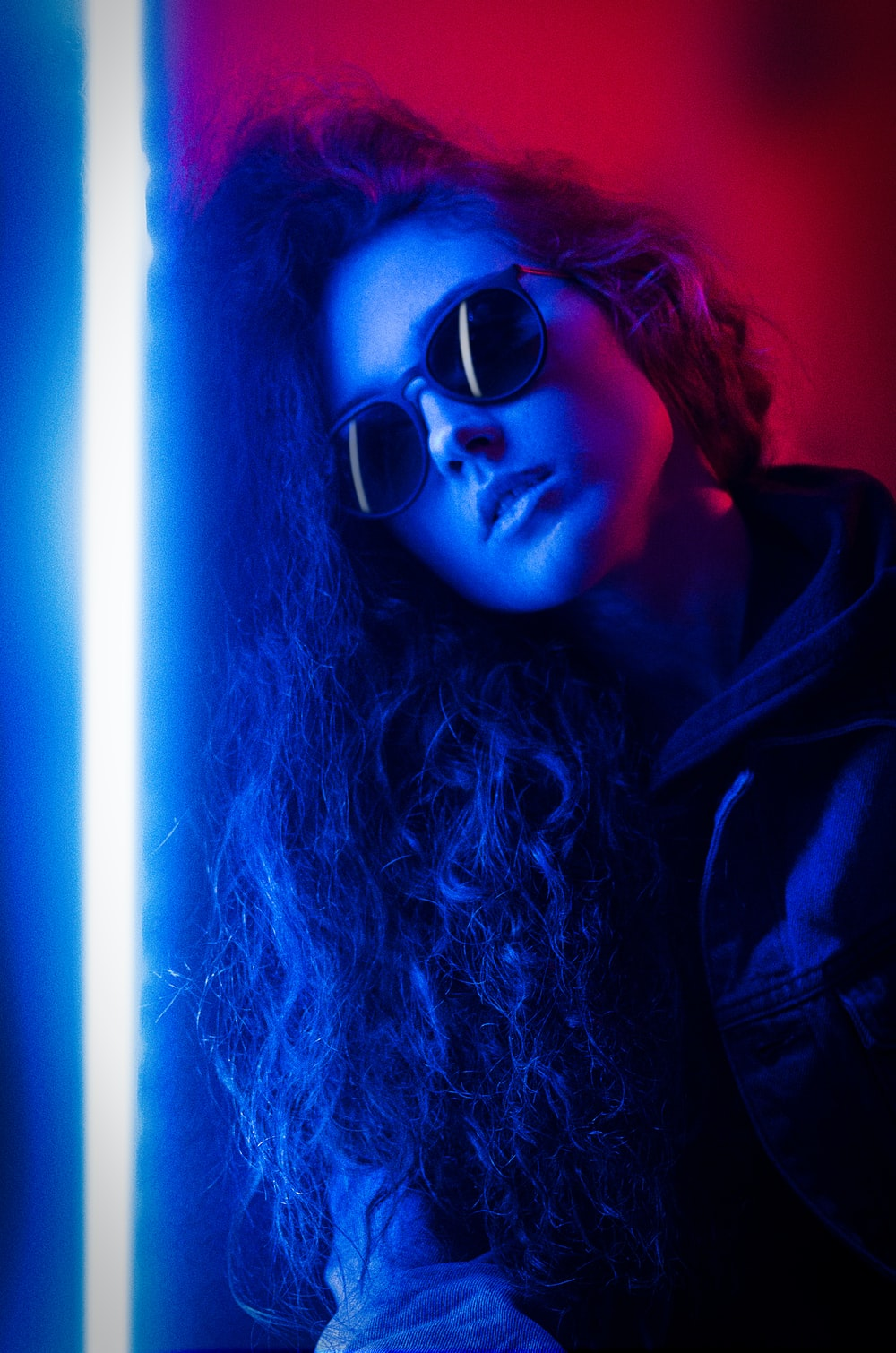 woman in black sunglasses