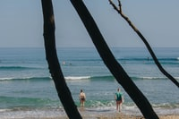 man holding surfboard near shores