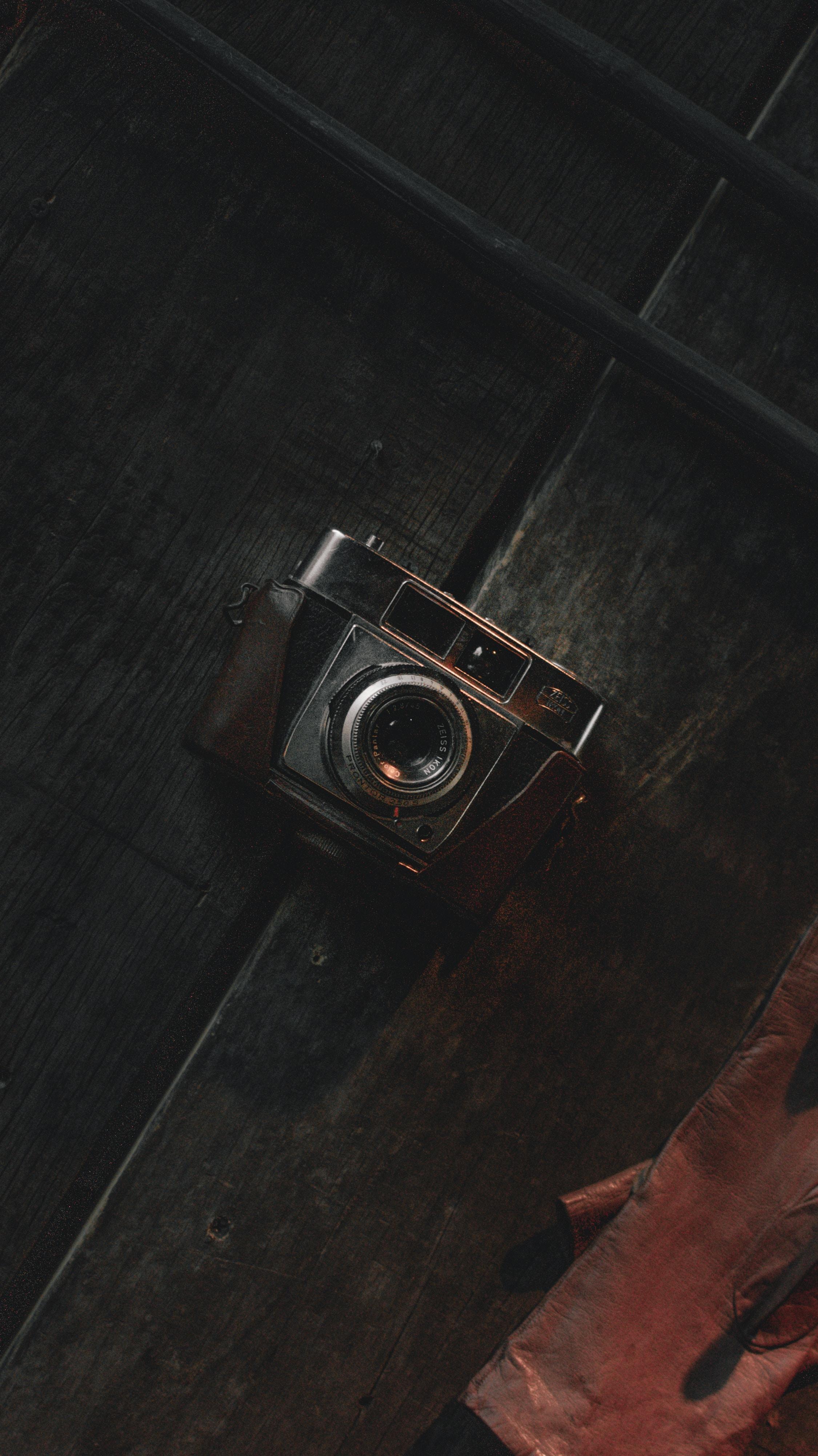 brown and gray SLR camera