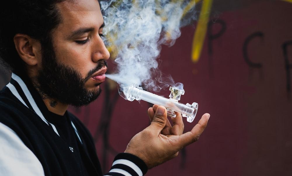 smoking man wearing jacket