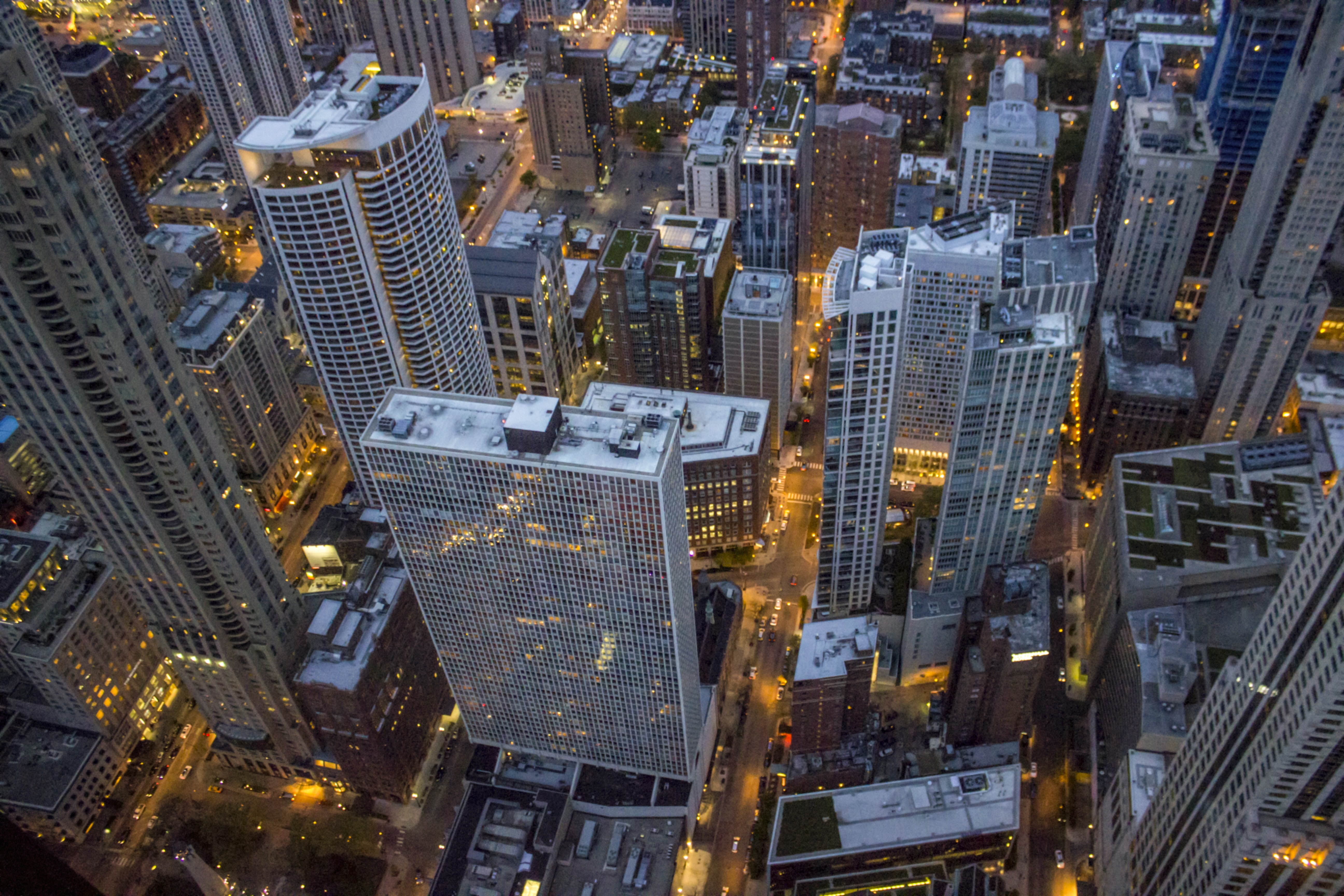 high-angle view of buildings