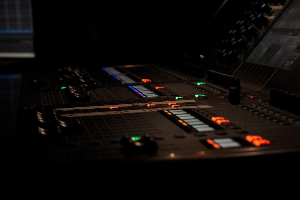 gray audio mixer