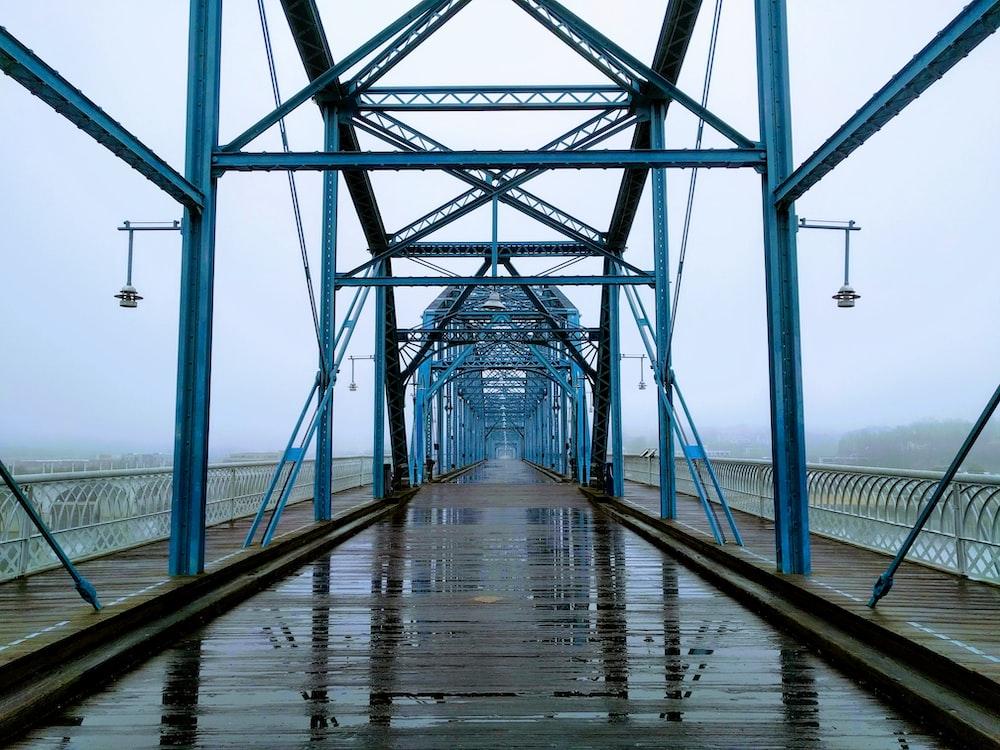 empty metal bridge