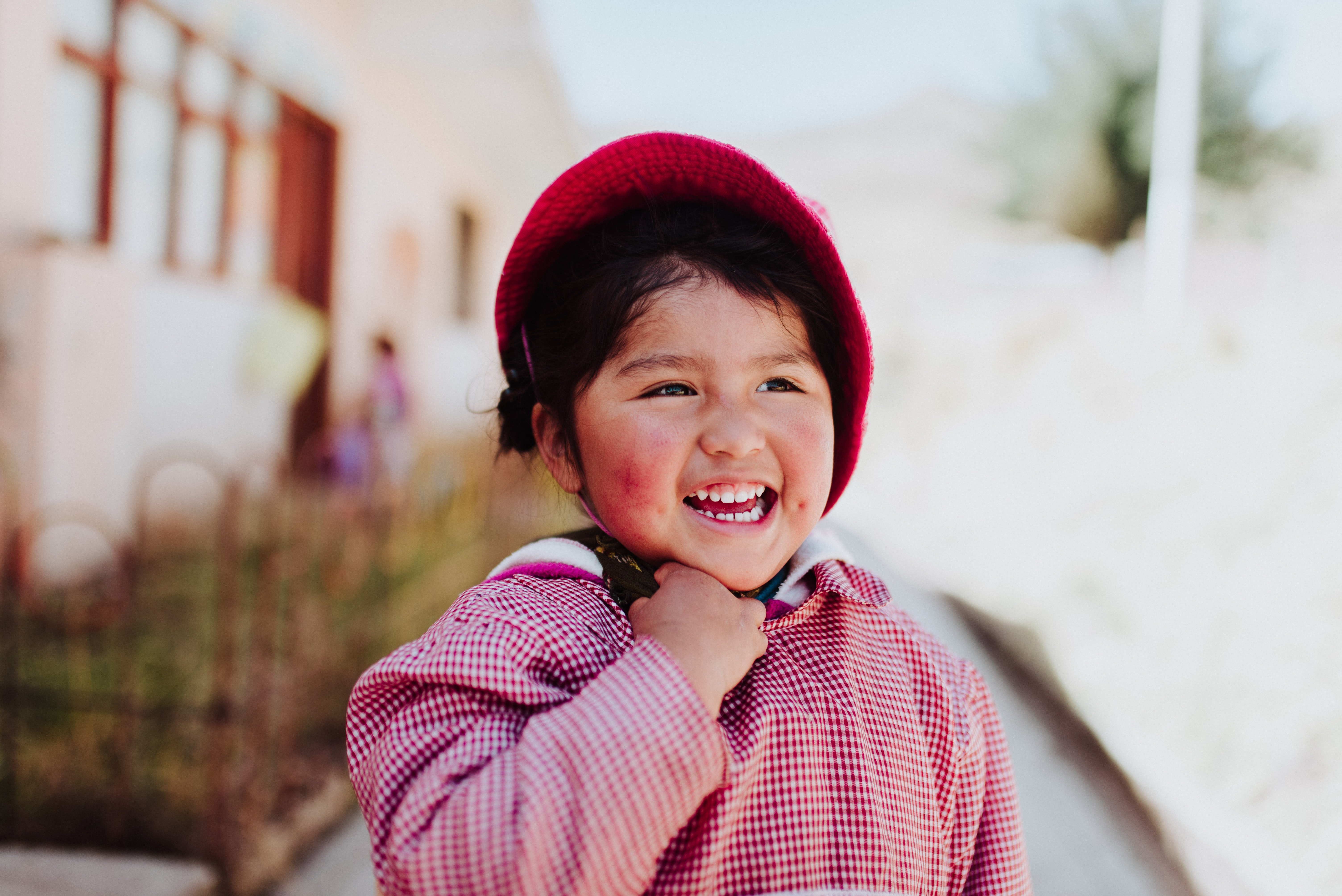 selective focus photo of smiling child