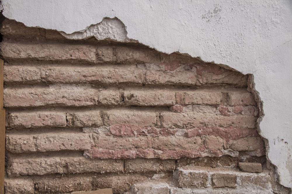 brown concrete wall brick