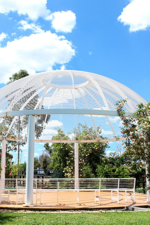 white metal dome