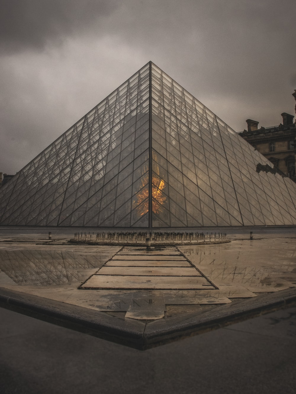 pyramid-shape building
