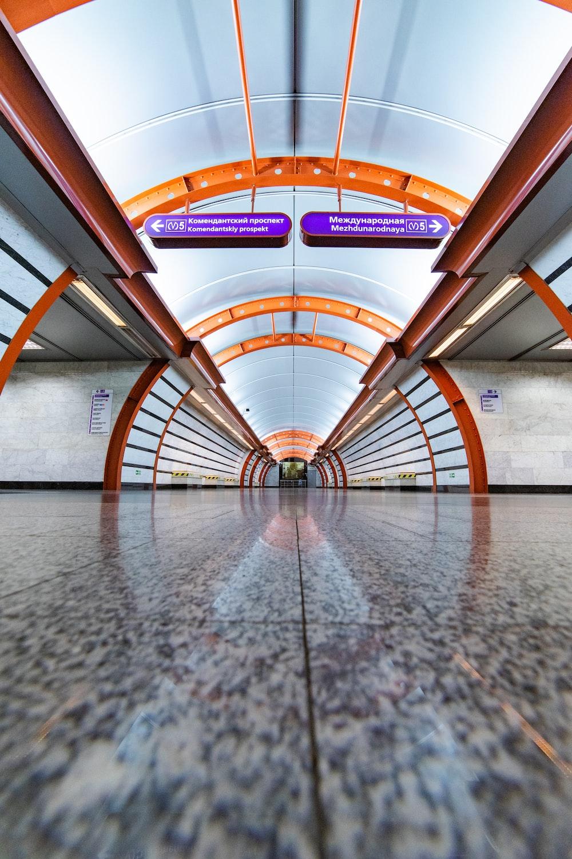 orange and gray architecture building