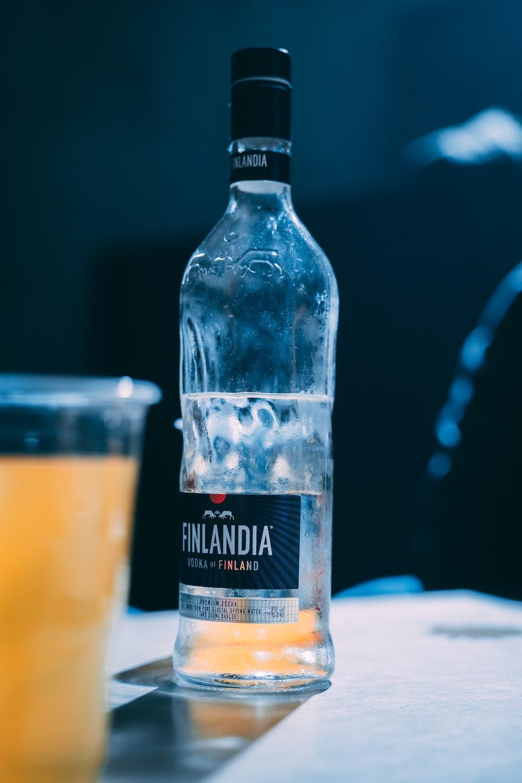 Finlandia bottle on white surface