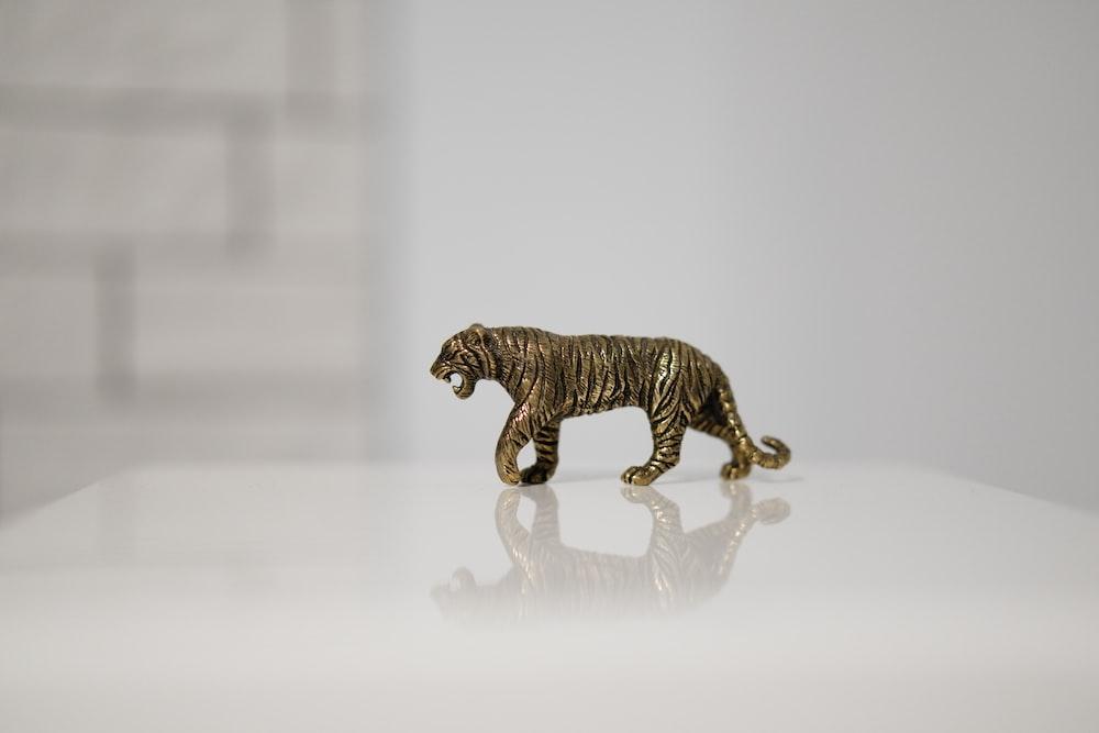 tiger miniature on tabletop