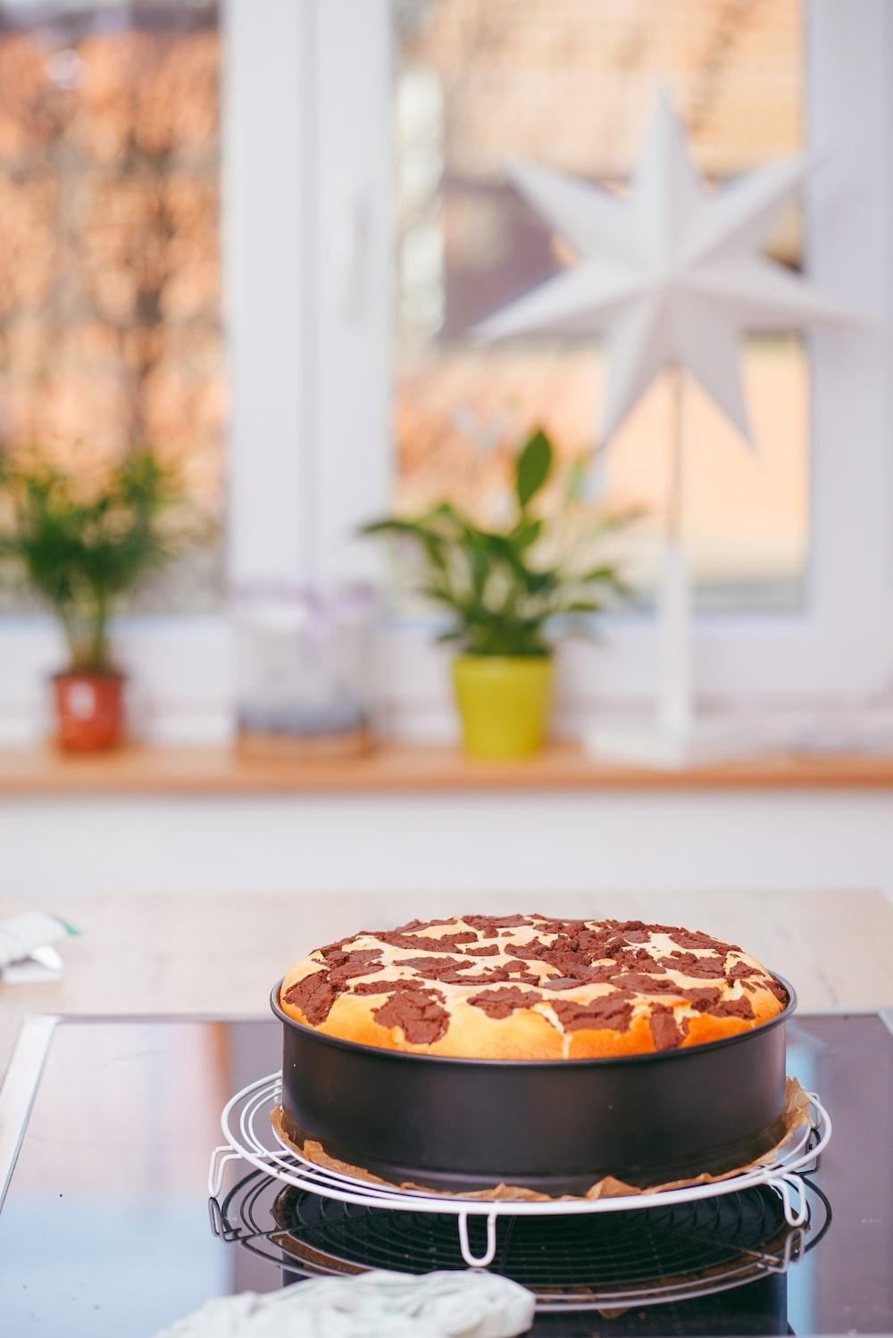 baked pie on pan