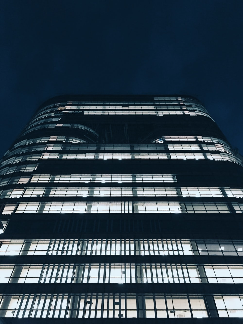 high-rise building during nighttime