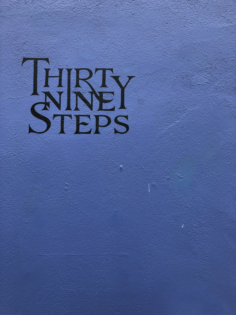 Thirty Nine Steps text
