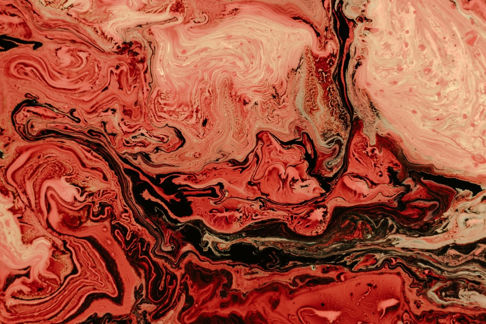 red and brown abstract art