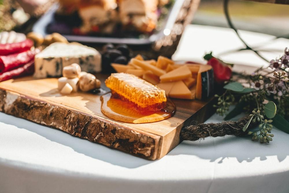 sandwich on kitchen wood block