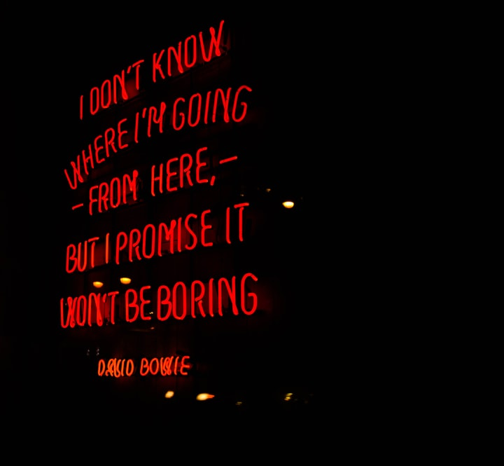 Why Am I Drawn Toward Failure? David Bowie Leads to A Writer's Epiphany