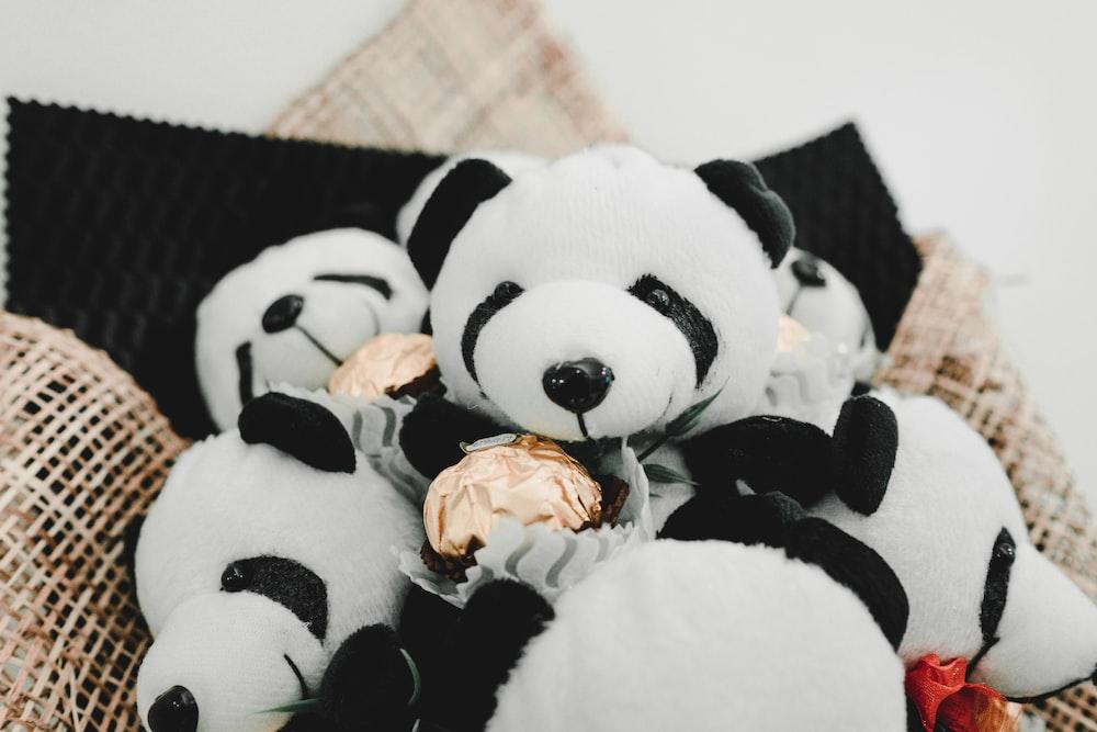 white panda plush toys