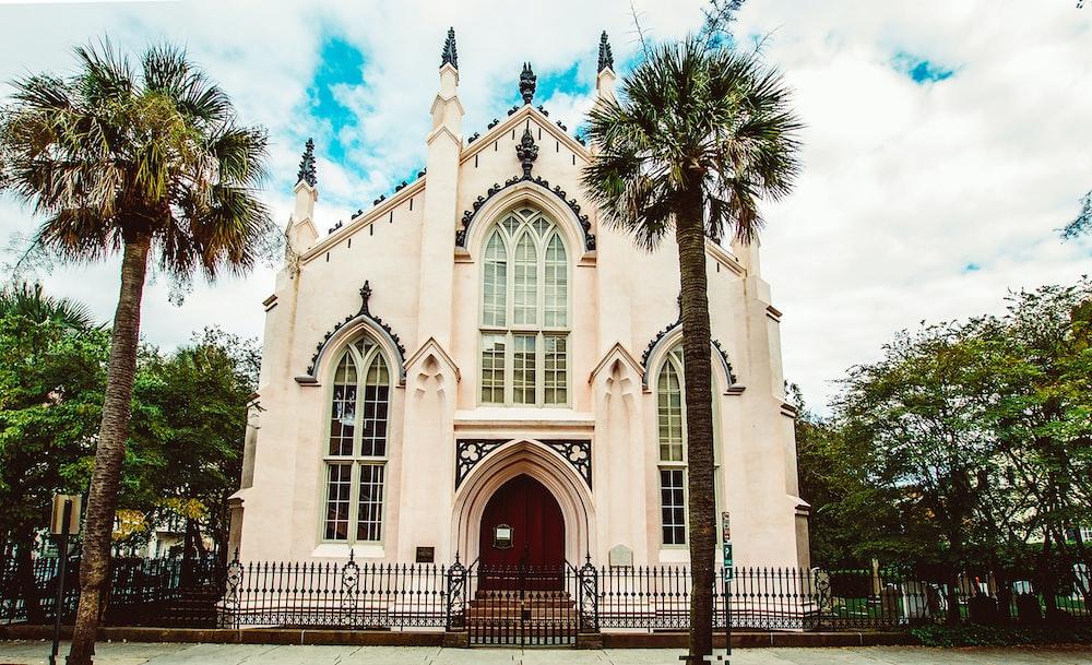 white concrete church