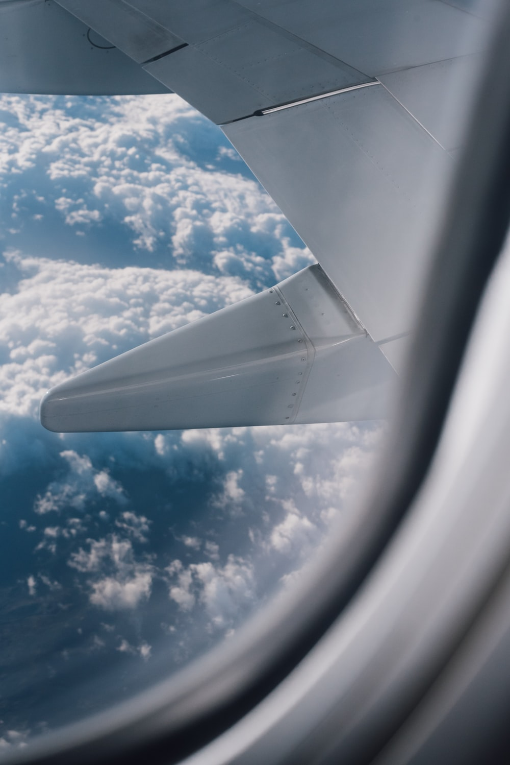 clear glass airliner window