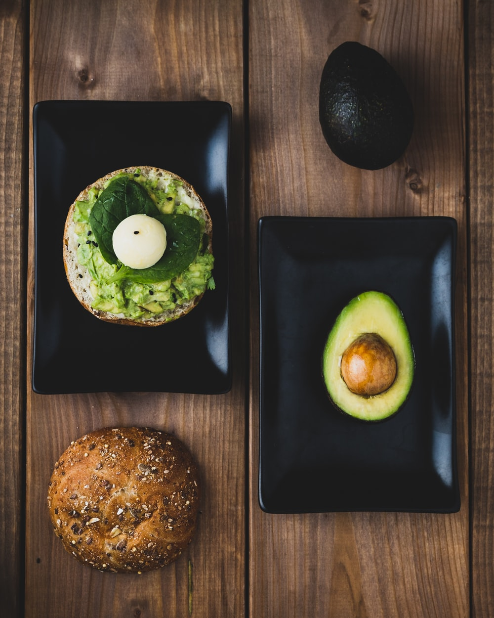 avocado on plate