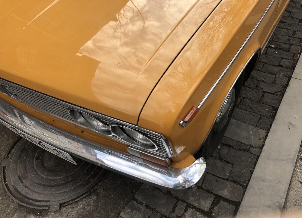 brown car on street