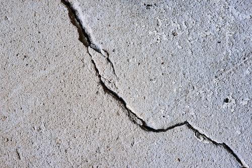a crack in the concrete