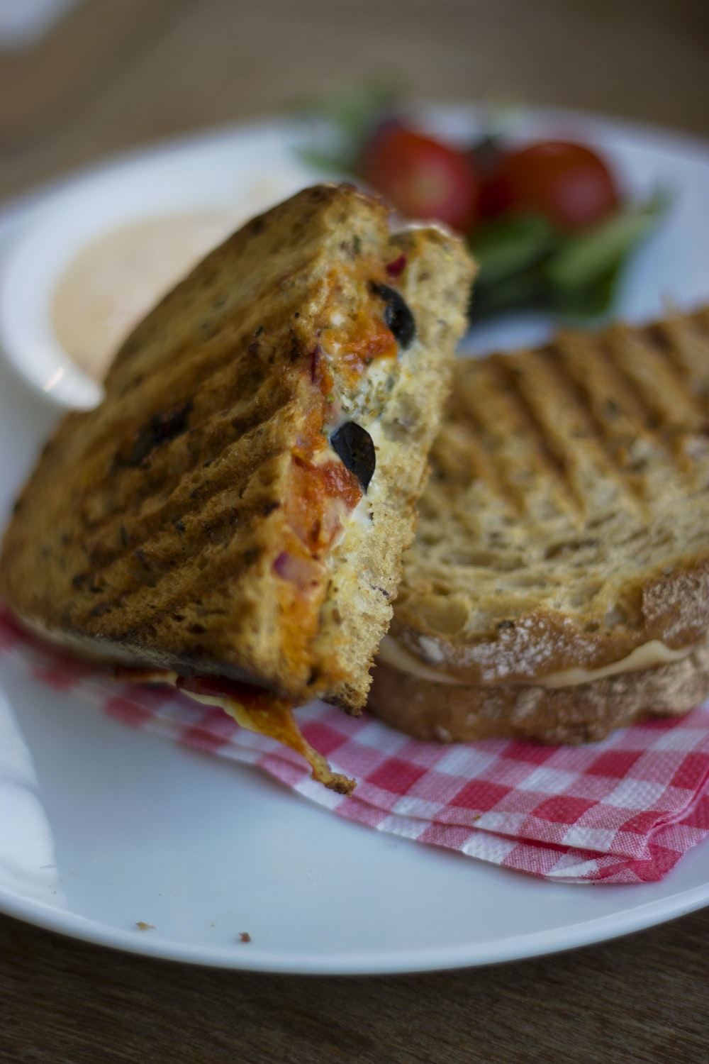 grilled breads on plate