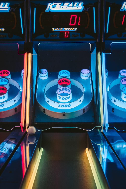 blue Ice Ball bowling lane