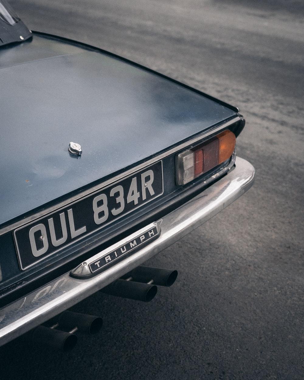black Triumph vehicle close-up photography